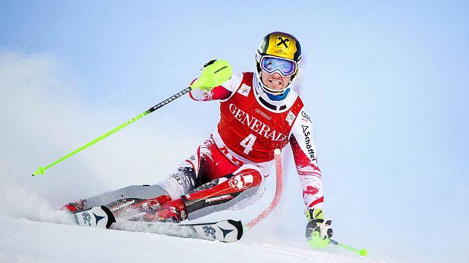 التزلج الألبي: نهاية أسبوع مذلهة لهيرشر ومازي