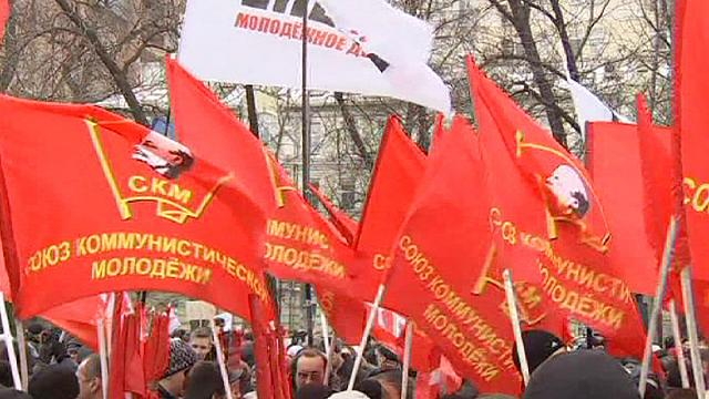 Protesters in Moscow take to the streets against the city's education and health cuts