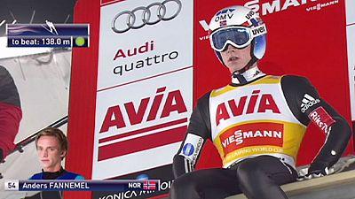 Freund in World Cup ski jump victory