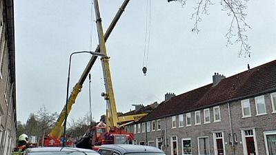 Crane crash during elaborate marriage proposal