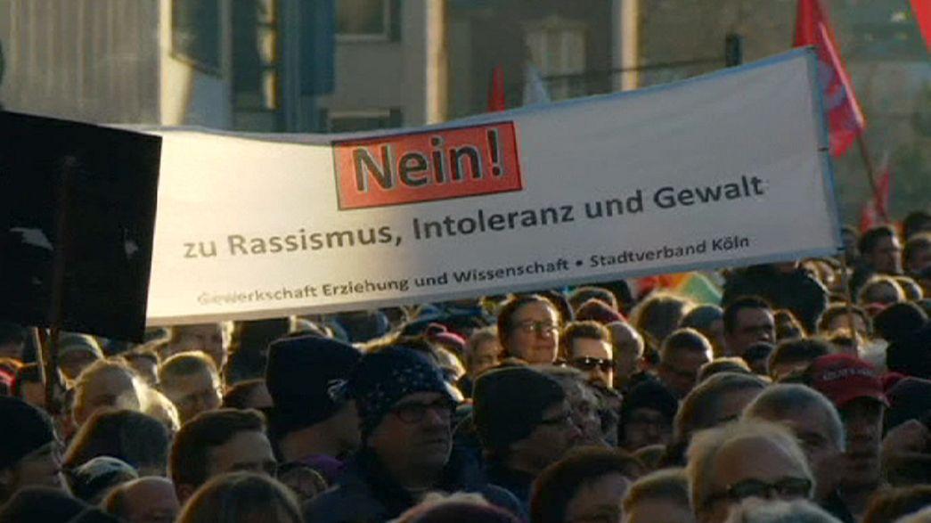 مسيرة حاشدة ضد العنصرية في مدينة كولونيا الألمانية