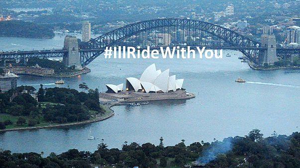 #Illridewithyou: los australianos muestran su solidaridad tras el secuestro de Sídney