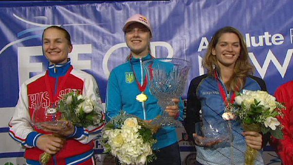 Grand Prix im Fechten: Olga Kharlan jubelt