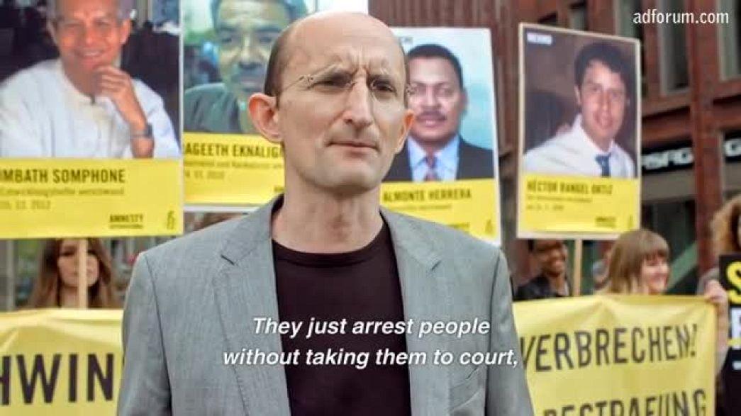 Fading portraits (Amnesty International)