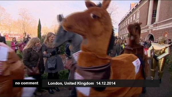 Star Wars characters join pantomime horses for weird and wacky London race