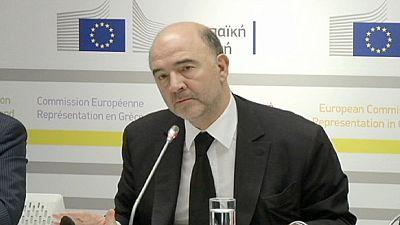 Pierre Moscovici in visita ad Atene elogia gli sforzi fatti dalla Grecia