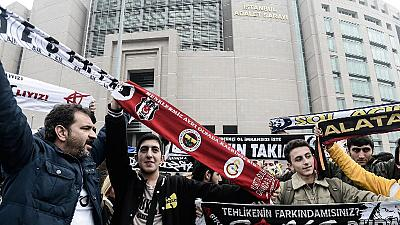 Turkish court postpones 'attempted coup' trial of 35 football fans