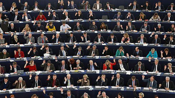 البرلمان الاوروبي يصوت على قرار يدعم دون تحفظ الحوار من اجل حل الازمة الفلسطينية الاسرائيلية على اساس دولتين مستقلتين.