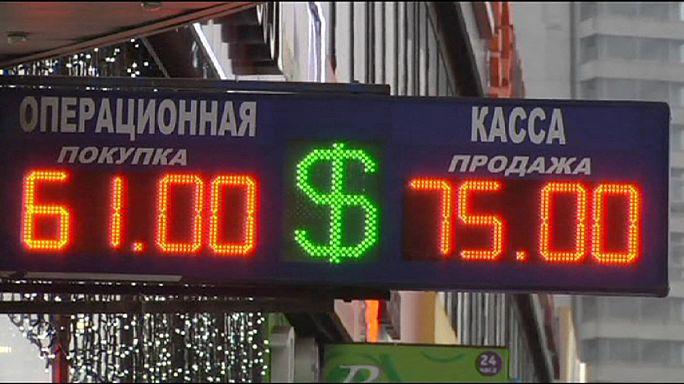 Valor do rublo continua em montanha russa