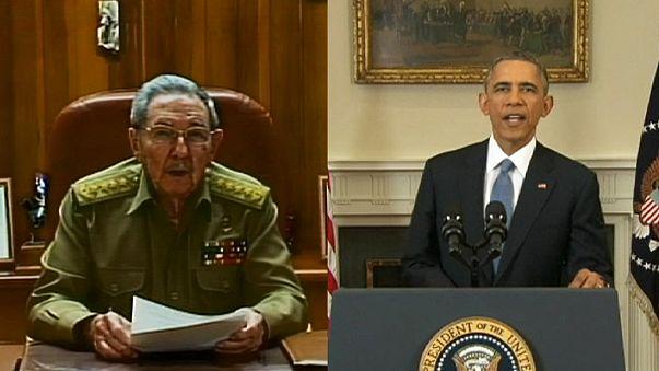 أوباما وكاستْرو يُنهِيان عهدَ العلاقات العدائية بين هافانا وواشنطن