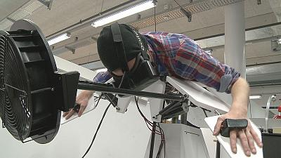 See, feel and smell the world like a bird with Birdly flight simulator