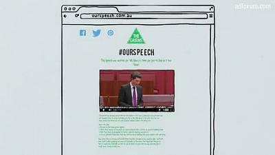 #Ourspeech (The Greens)