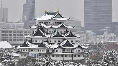 Heavy snows in central Japan