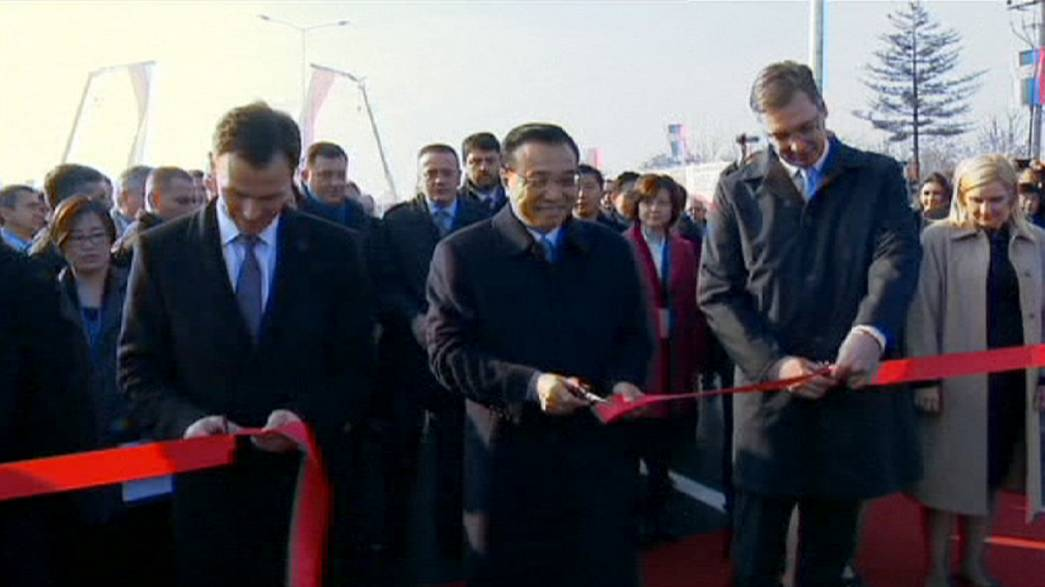 New Chinese-built bridge unveiled in Belgrade