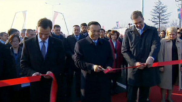 New Chinese-built bridge unveiled in Belgrade