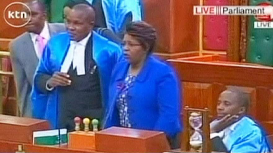 Scuffles break out in Kenyan parliament