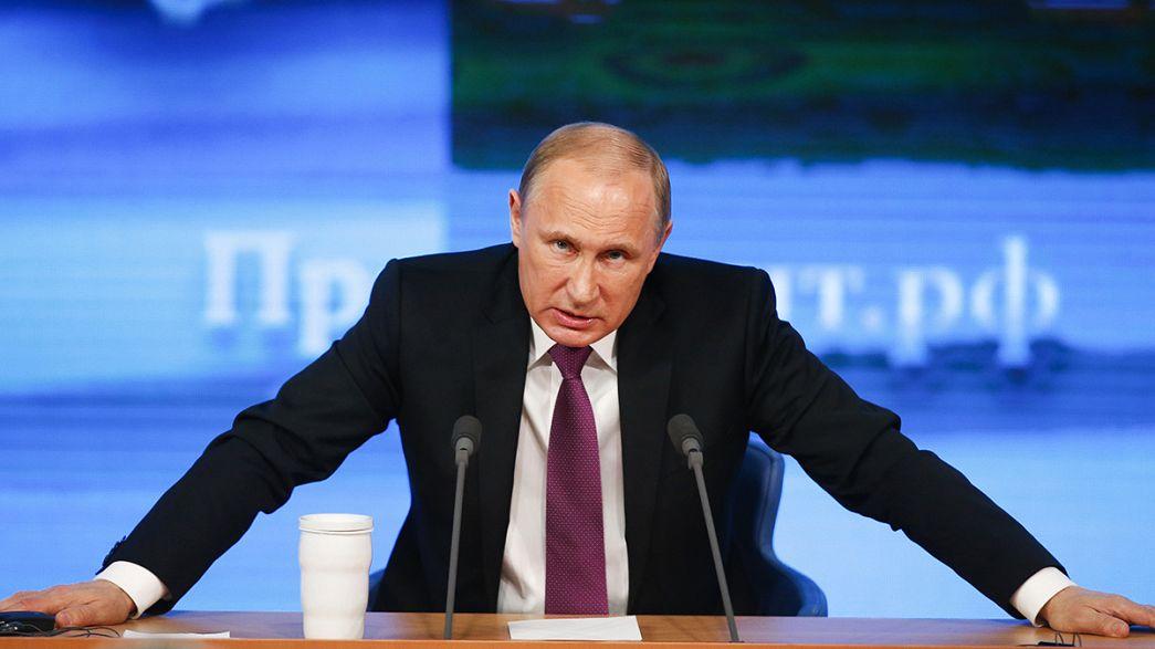 Jährliche Pressekonferenz: Putin gibt Westen Schuld an angespannter Lage