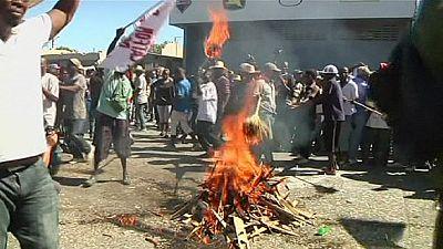 Nueva jornada de protestas en Haití para exigir la salida del presidente
