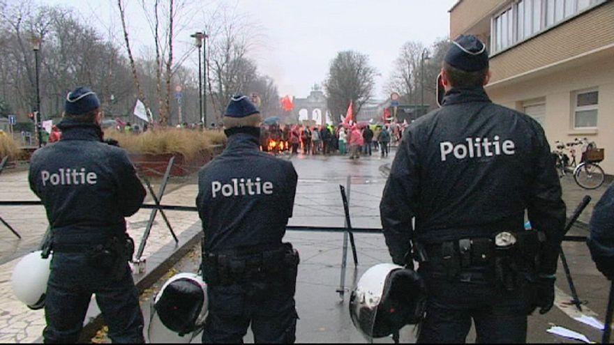Manifestación en Bruselas contra el tratado UE-EEUU