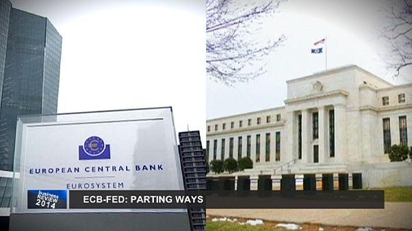 مرور مهمترین رویدادهای اقتصادی سال ۲۰۱۴: بانکهای مرکزی آمریکا و اروپا در دو مسیر متفاوت