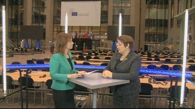 مقابلة خاصة بيورونيوز مع رئيسة وزراء لاتفيا Laimdota Straujuma لايمدوتا ستراويوما.