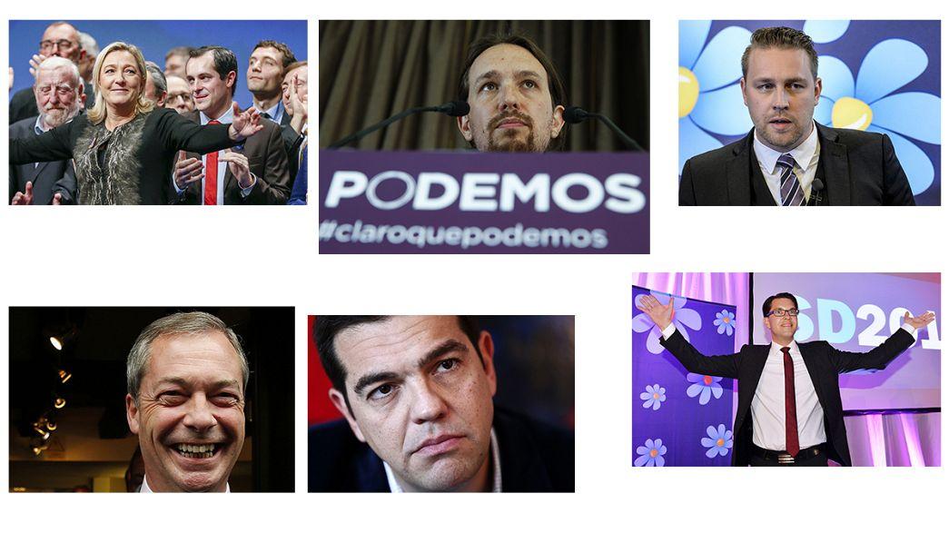 Las 6 caras que amenazan el bipartidismo europeo en este 2015
