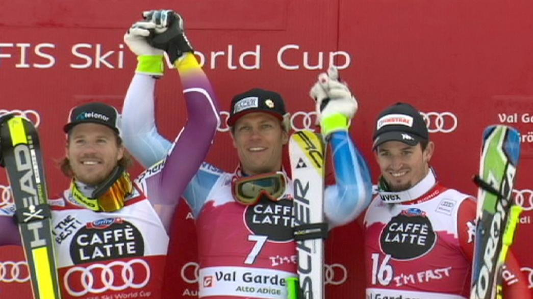 Nyman repete triunfo em Val Gardena