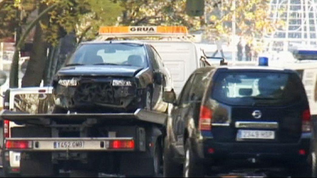 Arabalı saldırı Madrid'de korku yarattı