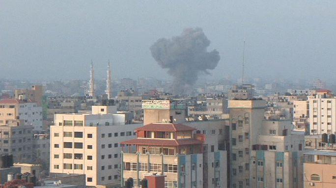 Israel bombs Hamas base in Gaza after rocket attack