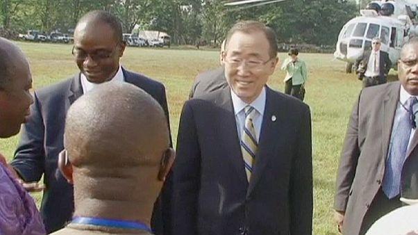 Ban Ki-moon praises healthcare workers in Ebola-hit African countries