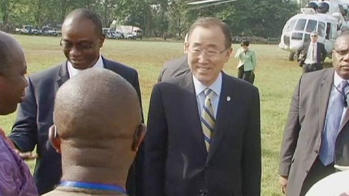 Ban Ki-moon praises healthcare workers in Ebola-hit African countries