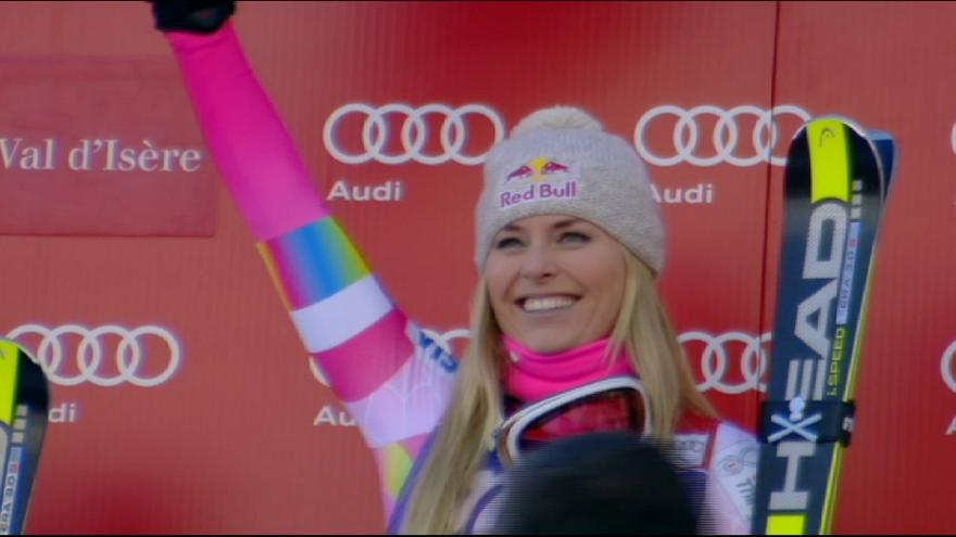 Lindsey Vonn claims World Cup downhill win in Val D'Isere