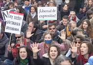 """New """"muzzle"""" law sparks protests across Spain"""