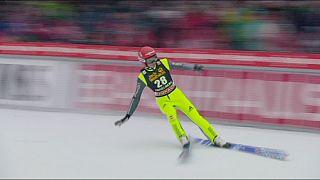 Рихард Фрайтах стал победителем этапа в Энгельберге