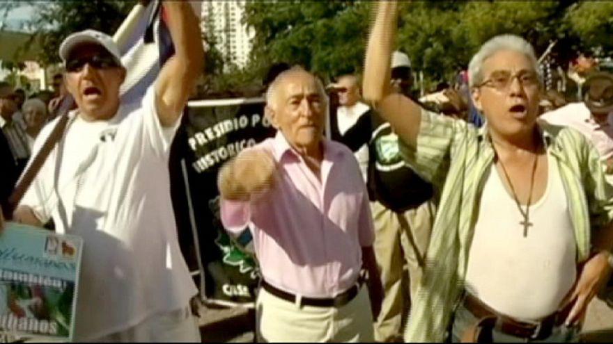 Castro's communism pledge as Cuban-Americans protest in Miami