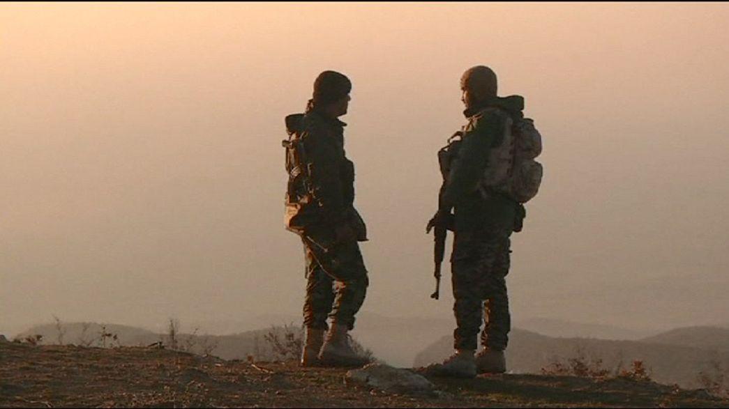 """Le chef des Kurdes d'Irak fête """"les victoires"""" sur le mont Sinjar"""