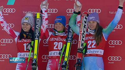 Gravity: Goergl clinches Val d'Isere super-G as Vonn crashes out