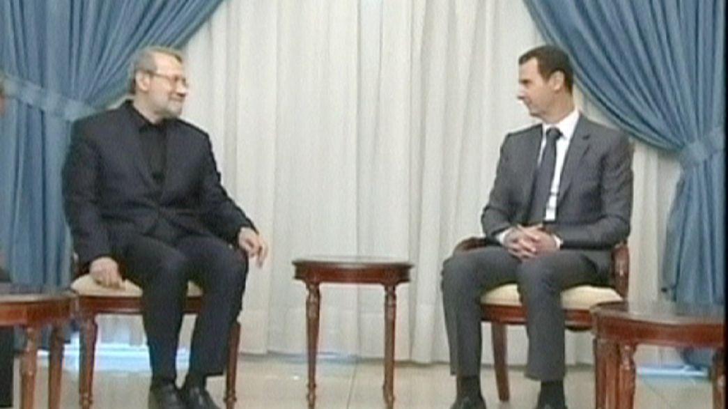 """Ali Lariyani califica de """"puro teatro"""" la coalición internacional anti EI durante su visita a Damasco"""