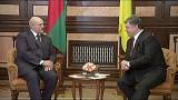 Il presidente bielorusso Lukashenko in visita a Kiev