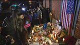 Vigilia en Brooklyn por los policías asesinados en una emboscada en Nueva York
