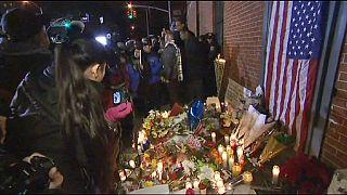 یاد دو پلیس کشته شده در نیویورک گرامی داشته شد