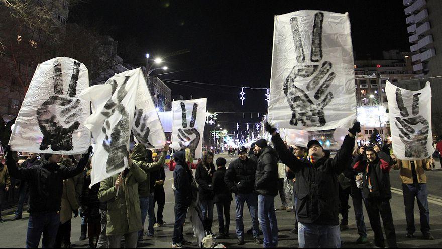 A forradalomra emlékeztek Bukarestben