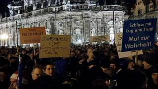 Thousands of anti-Islamisation protesters gather in Dresden as 'Monday demos' cause concern