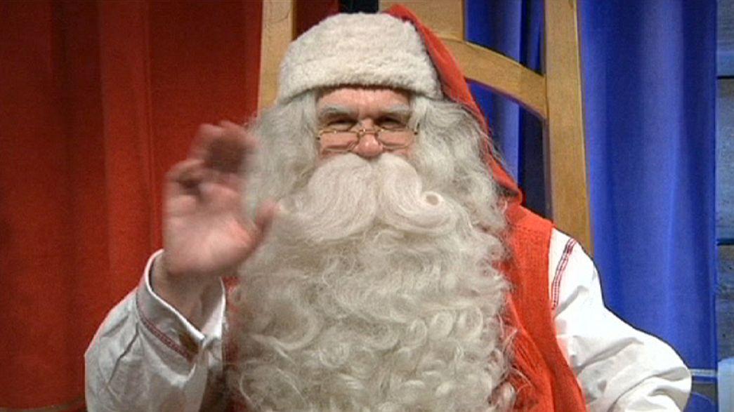 Santa sets off for work