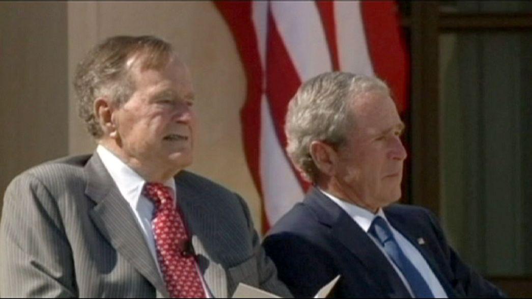 Bush Senior mit Atemnot im Krankenhaus