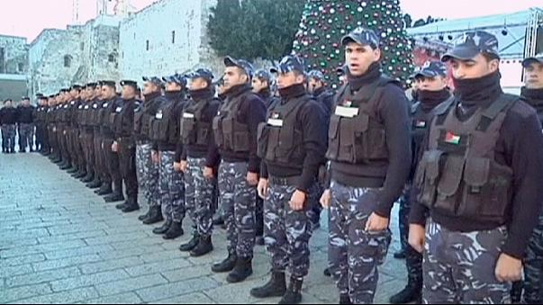 High security in Bethlehem as people gather for Christmas eve celebrations