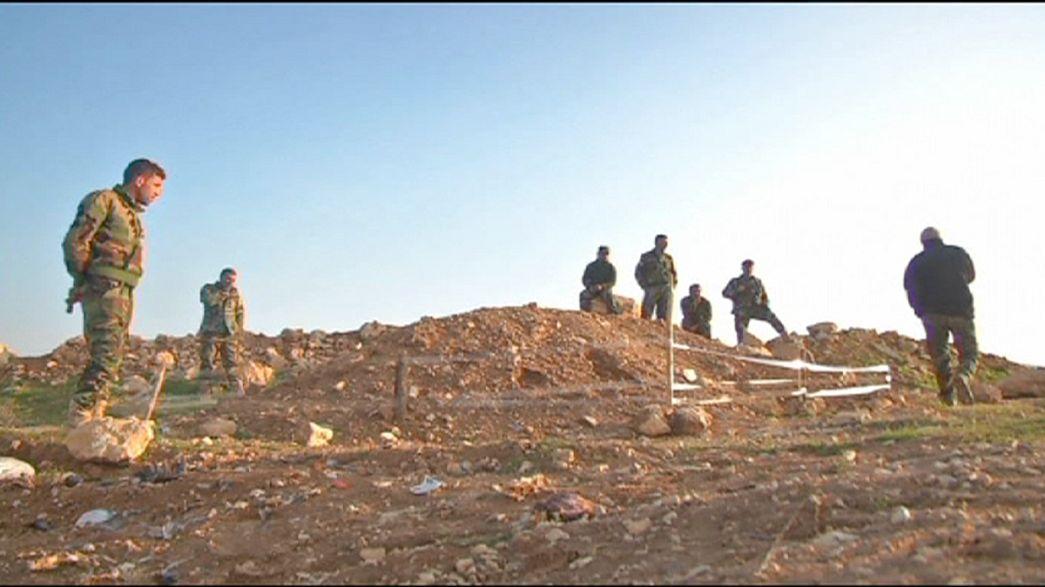 """العثور على مقبرة جماعية في حردان بعد طرد تنظيم """"الدولة الاسلامية"""""""