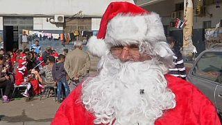 آوارگان مسیحی عراق کریسمس را جشن گرفتند