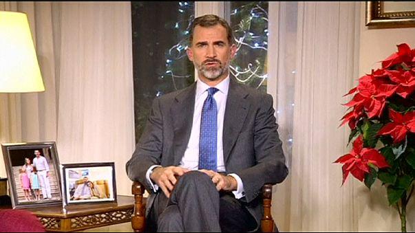Rei de Espanha fala em regenerar o país no primeiro discurso de Natal