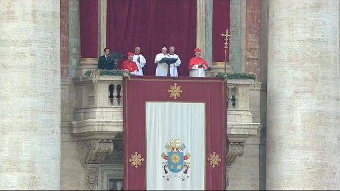 Ferenc pápa: könnyekkel teli a karácsony